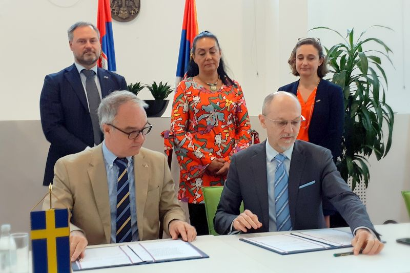 Serbia, Sweden sign agreement on continuation of ENVAP 3 project