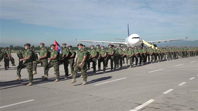 Members of Serbian Army as part of UN peacekeeping mission in Lebanon