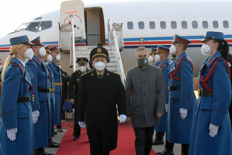 Chinese Minister of Defence arrives on visit to Serbia