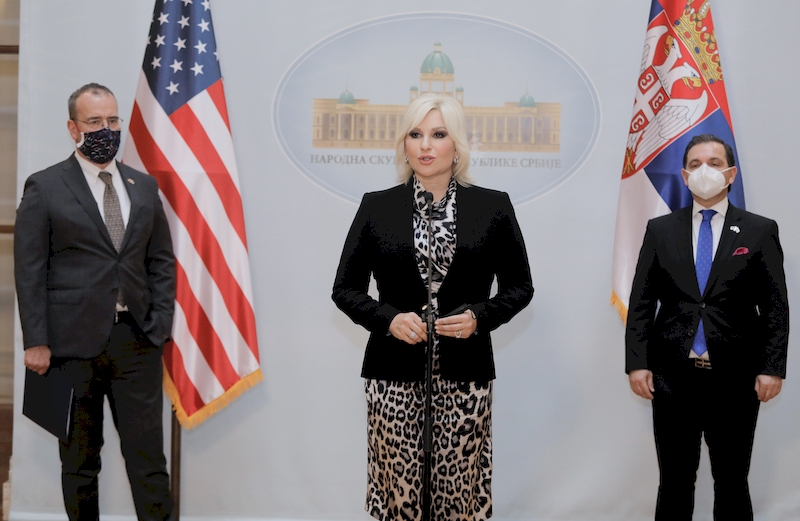 Improving relations between Serbia, United States