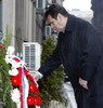Prime Minister and government members pay homage to Zoran Djindjic